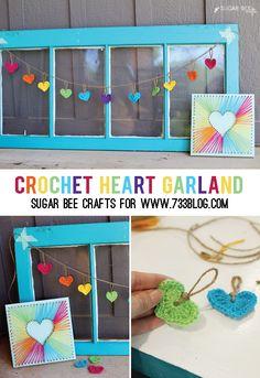 Crochet Heart Garland Tutorial