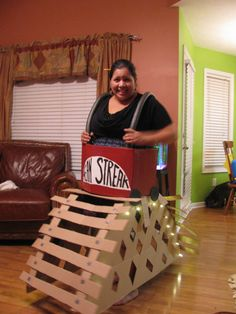 Single Person Roller Coaster Costume Used A Box Wrapping