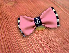Галстук бабочка морская розовая