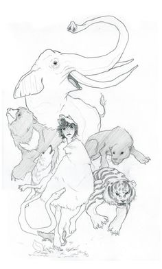Mowgli the Man Cub  Original Drawing by laurenmoyer on Etsy, $100.00 #art #illustration #drawing #thejunglebook