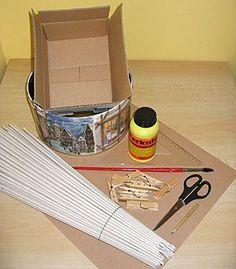 Material para fazer a cesta