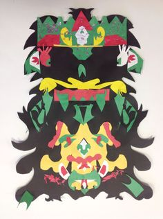 We worked hard on it and we used warm colors to have it look good and we spent 6 weeks on this mask and we used Mexican colors because we think their colors are amazing