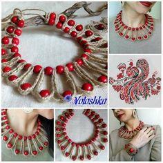 Best 12 For a plain Kurta neck – SkillOfKing. Thread Jewellery, Soutache Jewelry, Textile Jewelry, Fabric Jewelry, Boho Jewelry, Jewelry Crafts, Beaded Jewelry, Yarn Necklace, Fabric Necklace