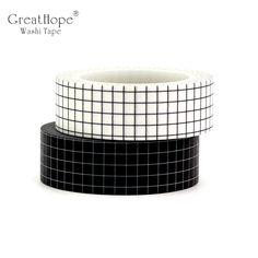 Decor Grid Japanese Paper Washi Tape Set for Planner Scrapbooking Bujo Masking Korean Stationery, Cute Stationery, Stationary, Washi Tape Set, Masking Tape, Duct Tape, Paper Tape, Diy Paper, Decorative Tape