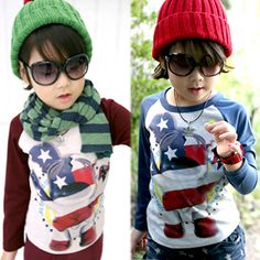 2013 autumn korean version of the new banner clown print kids baby boys long-sleeved t-shirt bottoming shirt 5322 only $7.76USD a Piece