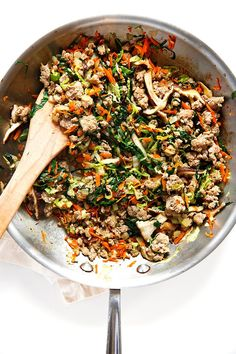 Egg Roll Bowl | Use coconut aminos instead of soy sauce to make this AIP-friendly.