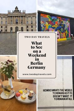 The best 2 day itinerary of FREE historical sights to see in a weekend in Berlin and some fun restaurants to try when you're there! European Travel Tips, Europe Travel Guide, Spain Travel, Travel Guides, Travel Destinations, Backpacking Europe, Best Countries In Europe, European Holidays, Travel Through Europe