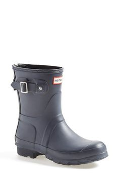 Hunter 'Short' Back Zip Rain Boot (Women) (Nordstrom Exclusive) available at #Nordstrom Sale: $149.90 After Sale: $235.00 Item #1089424
