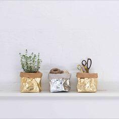 Washable Metallic Paper Bag   Cellulose   Laminate   Uashmama