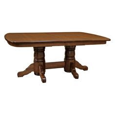 This Amish Traditional Double Base Dining Table with 4-Leaves boasts an unparalleled level of craftsmanship in handmade furniture. The overall style of this particular furniture is reminiscent of the classic Arts and Crafts movement emphasizing elegance through simplicity. Constructed by skilled Amish craftsmen using hand selected Quarter Sawn White oak and finished in a warm mission cherry finish (shown).  This exceptionally durable and sturdy table also features a wood to wood mechanism…