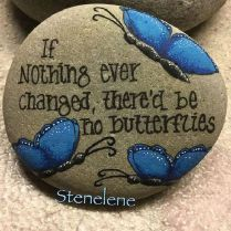 Best Painted Rock Art Ideas with Quotes You Can Do (21)