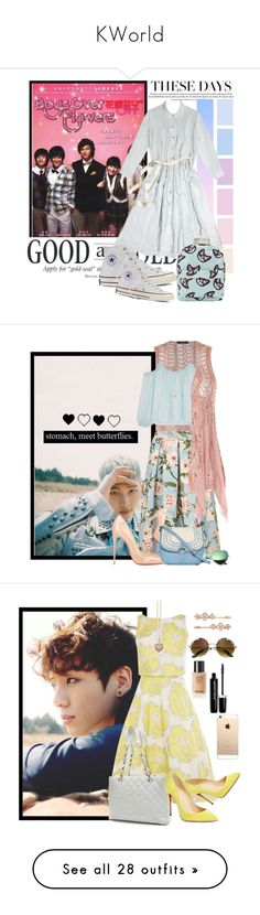 """""""KWorld"""" by anarita11 ❤ liked on Polyvore featuring Prada, Converse, Miss Selfridge, Elizabeth and James, Christian Louboutin, LC Lauren Conrad, T-shirt & Jeans, army, bts and youngforever"""
