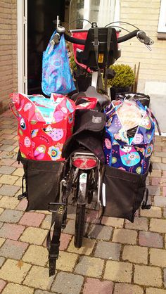 .a shopping-bike (holland) with child seat on front