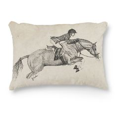 Hunter Pony Accent Pillow - The Painting Pony - hunter jumper horse art throw pillow for the equestrian horse lover home decor in the living room or bedroom!