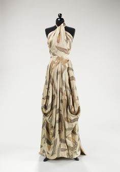 Evening Dress Charles James, American ca. 1936 silk, metal