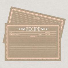 Kraft Recipe Cards free printable www.lovevsdesign.com