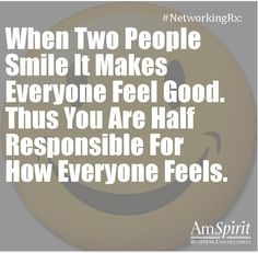#NetworkingRx: What brings a smile to your face?