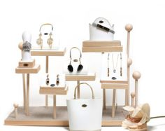 Jewelry Organizer for Earrings, Rings, Necklaces and Bracelets . Jewelry Display Stand // SO1004