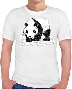 Alper Çelik - Bahtsız Panda - Kendin Tasarla - Erkek Bisiklet Yaka Tişört