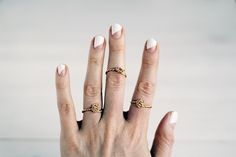 DIY these twisted rings with this tutorial.