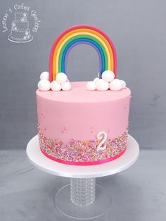 Rainbows are pretty www.facebook.com/cakesbyleannerhodes Cute Cakes, How To Make Cake, Rainbows, Birthday Cake, Facebook, Pretty, Desserts, Food, Tailgate Desserts