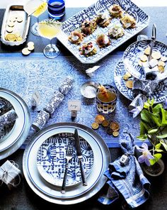 The Best Inspiration for Your Hanukkah Tablescape via @MyDomaine