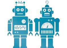 Lustige 'Roboter' Wandsticker