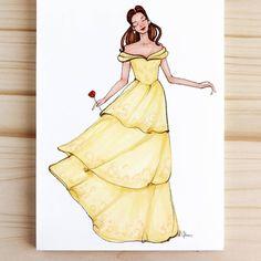 Style of Brush by Gizem Kazancıgil #fashionillustration gizem kazancigil #belle #beautyandthebeast