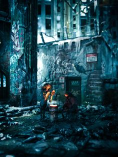 """Metropolis' First Son (2018)"" (Outtake); Diorama angelehnt an Oscar Wildes Märchen #Thehappyprince #Derglücklicheprinz #oscarwilde #Metropolis #Märchen #Modell #modellbau #diorama #fritz lang"