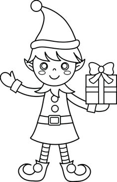 Free Printable Elf Coloring Pages For Kids | Cool2bKids ...