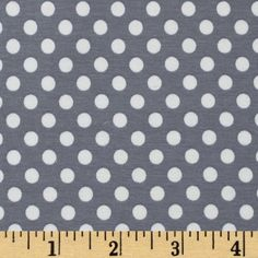 Riley Blake Cotton Jersey Knit Small Dots Gray from @fabricdotcom  From Riley Blake Fabrics, this lightweight stretch cotton jersey knit fabric features a smooth hand and about a 75% four way stretch for added comfort and ease. It is perfect for making t-shirts, loungewear, yoga pants and more!