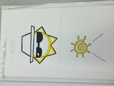 Logo Ideas for holiday (Paul Nash sketchbook)