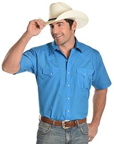 e8a043af7b5 Amazon.com  Ely Cattleman Men s Dark Turquoise Classic Western Shirt Big  And Tall Turquoise 18  Clothing