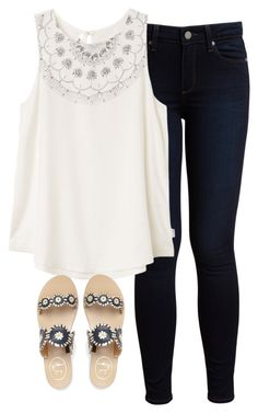 """Happy Mother's Day!"" by morganburleigh ❤ liked on Polyvore featuring Paige Denim, RVCA and Jack Rogers"
