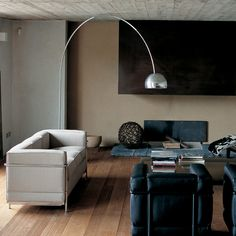 Or even use a Le Corbusier Sofa in pale grey