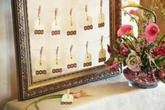 escort card frame wedding diy crafts