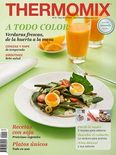 ¡Disfruta de los colores que nos ofrece Mayo! ¡De la huerta a la mesa! En este nuevo número de la revista Thermomix encontraréis sencillas recetas llenas de color con las frutas y verduras como prota
