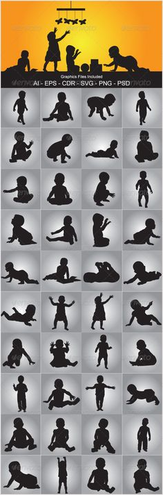 Baby Silhouettes - People Characters