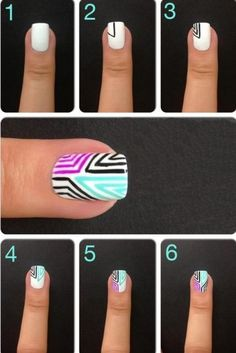 DIY Nails nails diy craft nail art nail trends diy nails diy nail art easy craft diy fashion manicures diy nail tutorial easy craft ideas nail tutorials teen crafts home manicures Nail Art Diy, Easy Nail Art, Cool Nail Art, Diy Nails, Sharpie Nails, Love Nails, Pretty Nails, Nail Art Designs, Nails Design