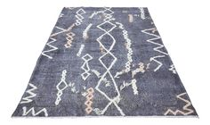 Turkish Tribal Handwoven Rug - 6′ × 9′6″ on Chairish.com