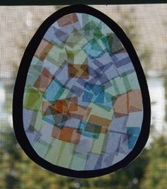 easter egg sun catcher (and other easter crafts)