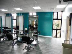 New salon training area space for an academy in Kent.  East Kent College (Salon Academy) - Dover, Kent  www.rapinteriors.co.uk