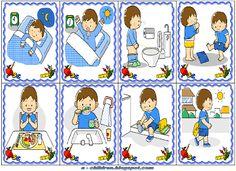 Los Niños: ΚΑΘΗΜΕΡΙΝΕΣ ΡΟΥΤΙΝΕΣ Learning Activities, Preschool Activities, Kids Learning, Autism Crafts, Sequencing Pictures, Clever Kids, 1st Grade Worksheets, Cartoon Background, Pecs Pictures