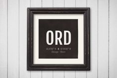Chicago O'hare Airport Code Print - ORD Aviation Art - Illinois Airplane Nursery Poster, Wall Art, Decor, Travel Gifts, Aviation Gifts by Sproutjam on Etsy https://www.etsy.com/listing/260601754/chicago-ohare-airport-code-print-ord