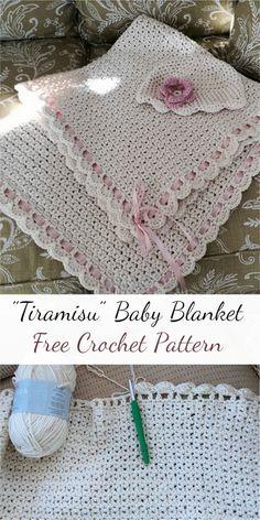 """Tiramisu"" Baby Blanket Free Crochet Pattern #crochet #crochetlove #stitching #freepattern"