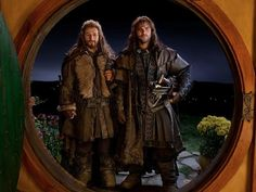 Two of the most attractive dwarves in the Hobbit movies, besides Thorin.