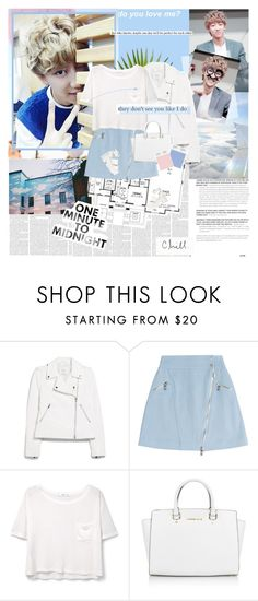 """Chill"" by nataliacvdo21 ❤ liked on Polyvore featuring KEEP ME, Dolce Vita, MANGO, Karl Lagerfeld, Michael Kors, vintage, blueandwhite, seventeen, minghao and xu"