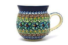 Polish Pottery Mug - 11 oz. Bubble - Unikat Signature U151 =^..^= Secure it…