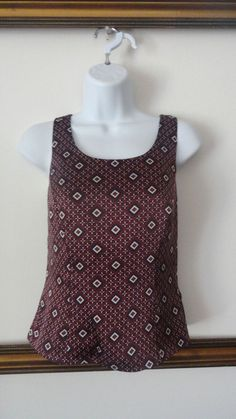 Tahari by Arthur S.Levine Pattern Petite Blouse Career Pattern Shirt 2P Small PS #TaharibyArthurSLevine #Blouse