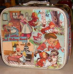 little  red, cute lunch box.